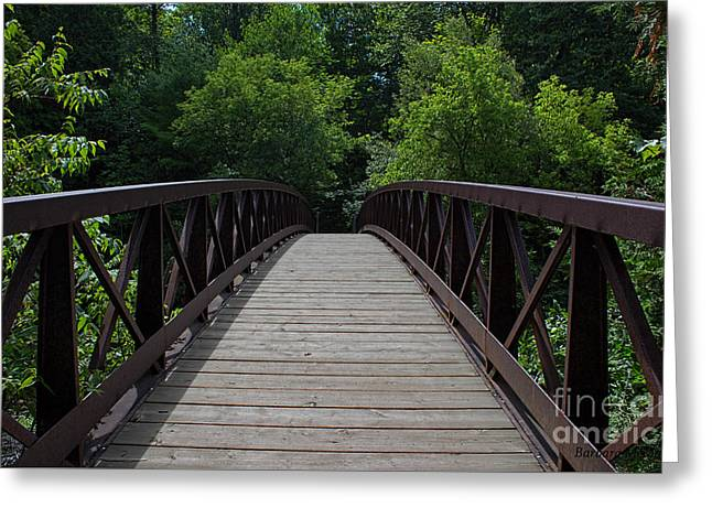 A Footbridge To The Woods Greeting Card