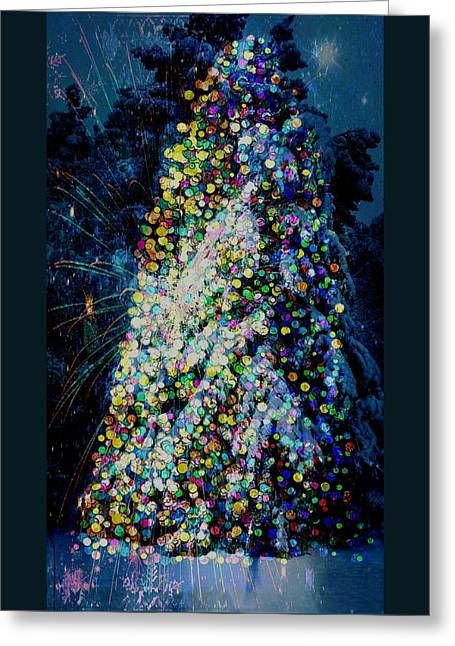 A Forest Tree Of Lights Greeting Card by ARTography by Pamela Smale Williams
