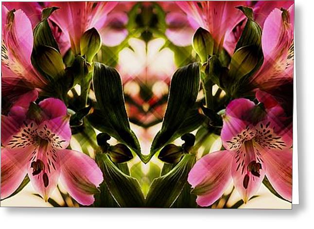 A Freesia Reflection Greeting Card