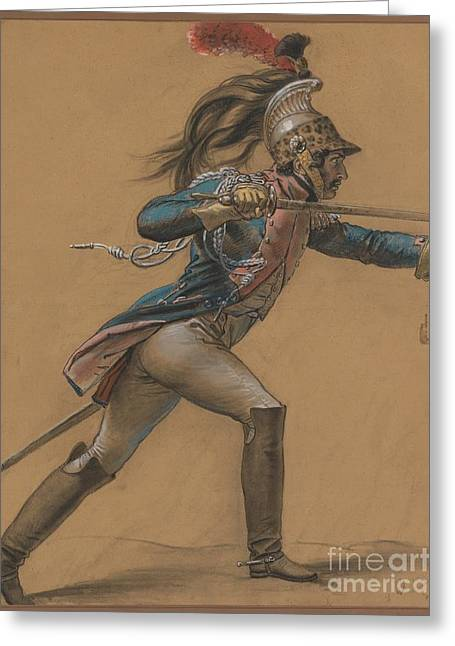 A French Dragoon Greeting Card by Celestial Images