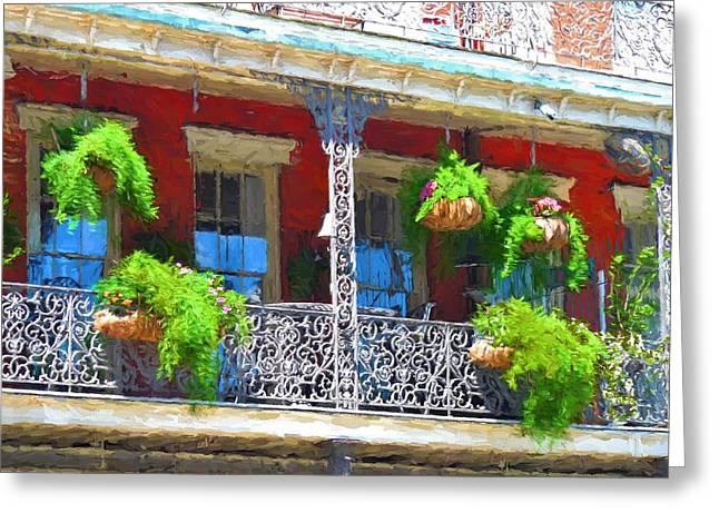 A French Quarter Balcony Greeting Card by D S Images