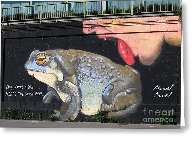 Greeting Card featuring the photograph A Frog A Day Keeps The Doctor Away by Menega Sabidussi