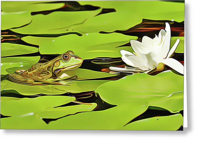 A Frog's Peace Greeting Card