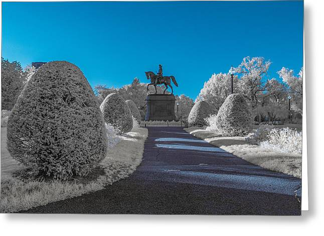 A Frosted Boston Public Garden Greeting Card