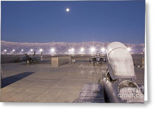 A Frosty Fighter Morning Greeting Card by Tim Grams