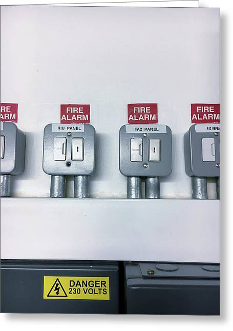 A Fuse Box Greeting Card by Tom Gowanlock