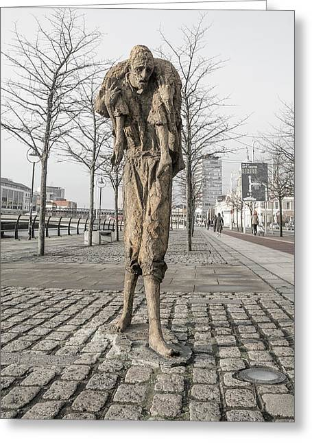A Future History The Famine Sculpture Greeting Card