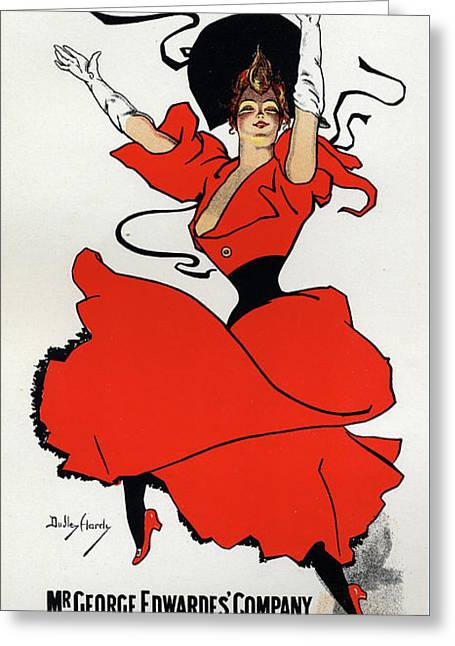 A Gaiety Girl  Vintage Poster Greeting Card