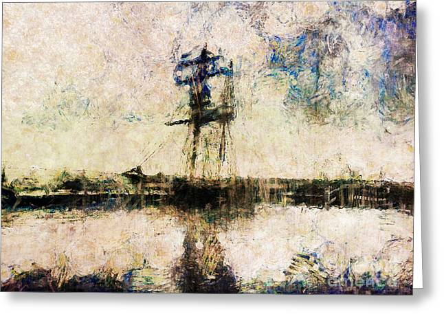 Greeting Card featuring the photograph A Gallant Ship by Claire Bull