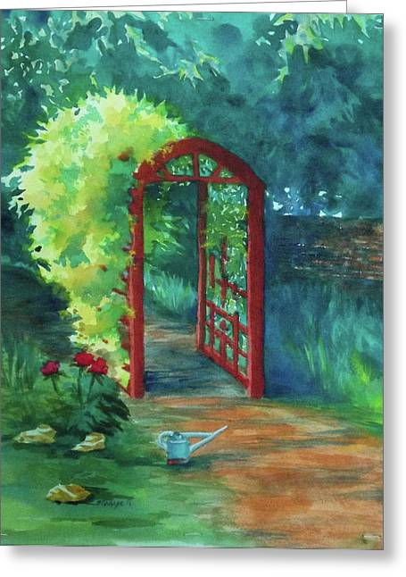 A Garden For Lee Greeting Card