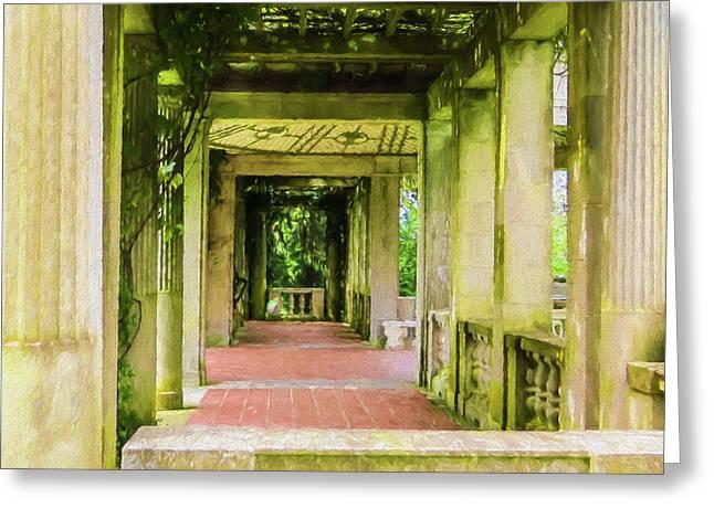A Garden House Entryway. Greeting Card