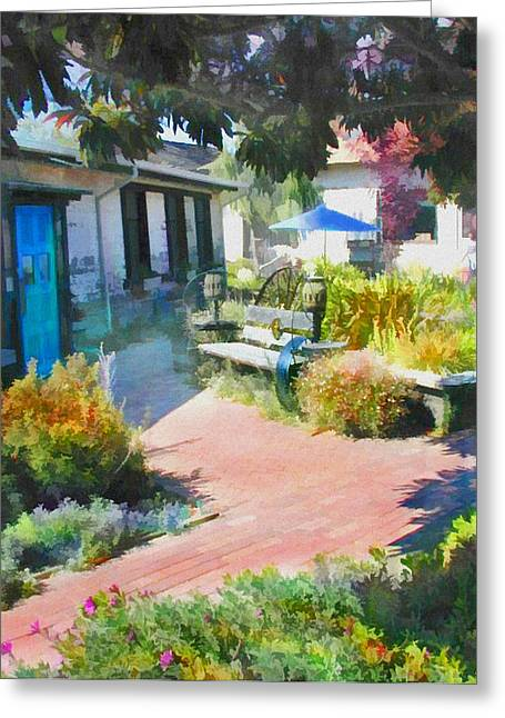 A Garden In Harmony Greeting Card by Elaine Plesser