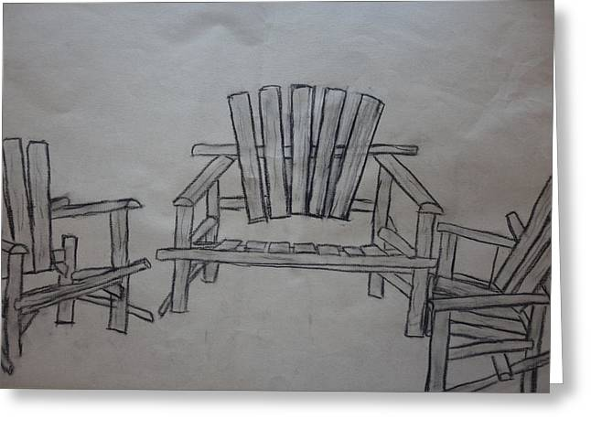 A Gathering Of Chairs Greeting Card by Rauno Joks