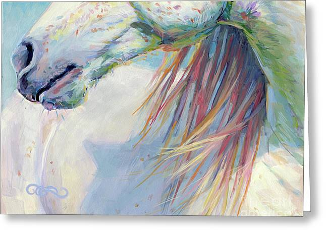 A Gentle Breeze Greeting Card by Kimberly Santini