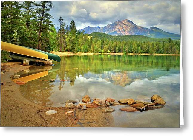 Greeting Card featuring the photograph A Gentle Light At Lake Annette by Tara Turner