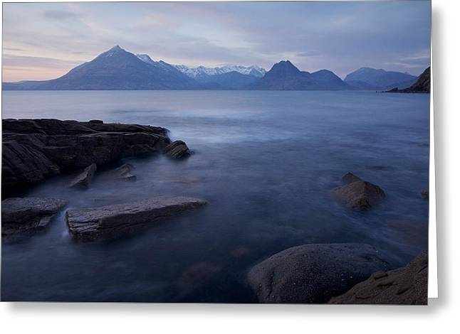 A Gentle Sunset At Elgol  Greeting Card