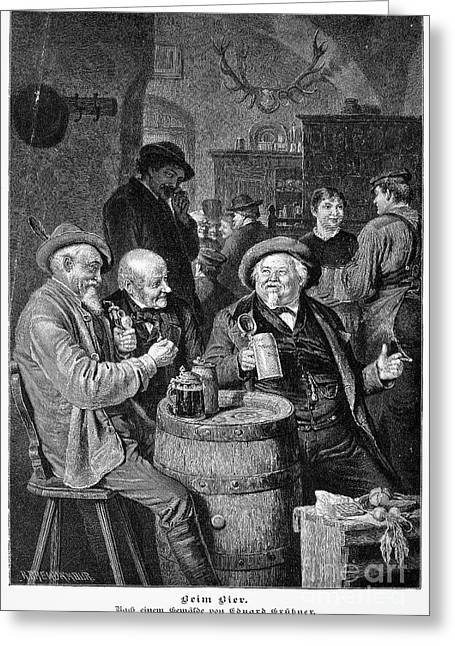 A German Tavern Greeting Card by Granger