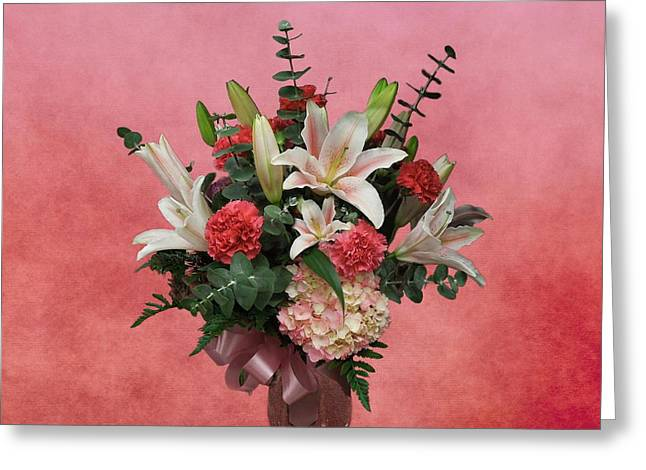 A Gift Of Flowers Greeting Card
