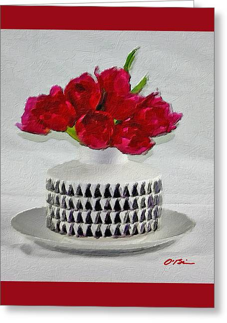 A Gift Of Red Tulips Greeting Card