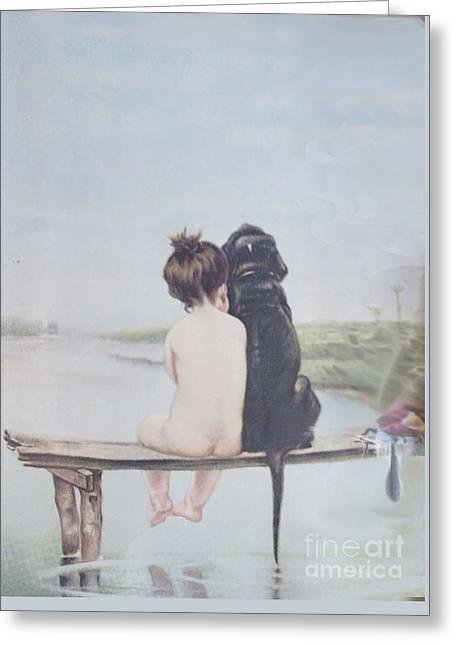 Bathing Beauties By Bruno Piglhein Greeting Card