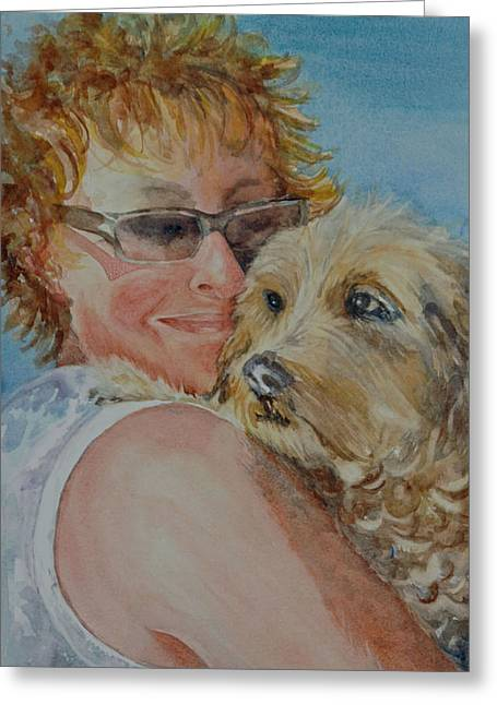 A Girl's Best Friend Greeting Card by Diane Fujimoto