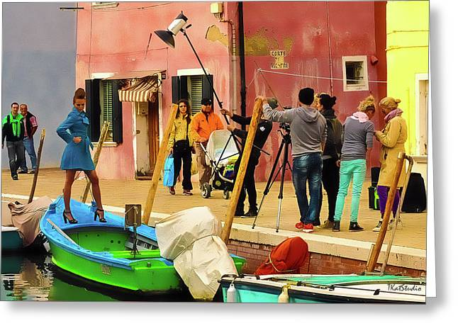 A Glamour Shoot In Burano Greeting Card