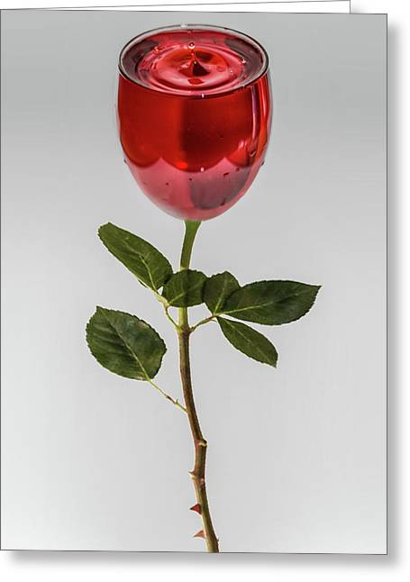 A Glass Of Rose Greeting Card