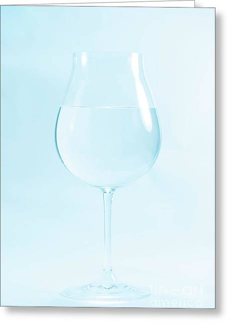 A Glass Of Water Greeting Card by Masako Metz