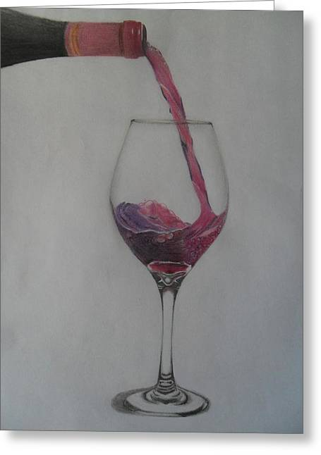 A Glass Of Wine Greeting Card