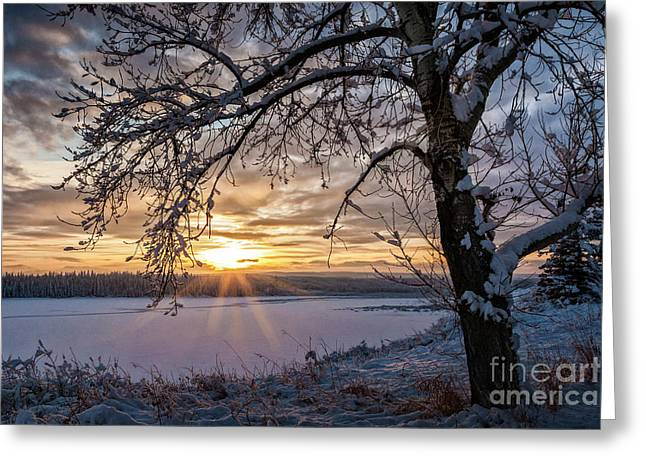Greeting Card featuring the photograph A Glenmore Sunset by Brad Allen Fine Art