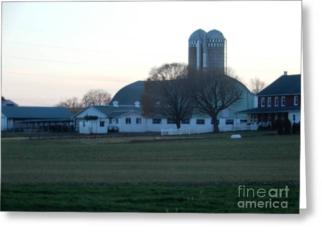 A Glorious Amish Evening Greeting Card