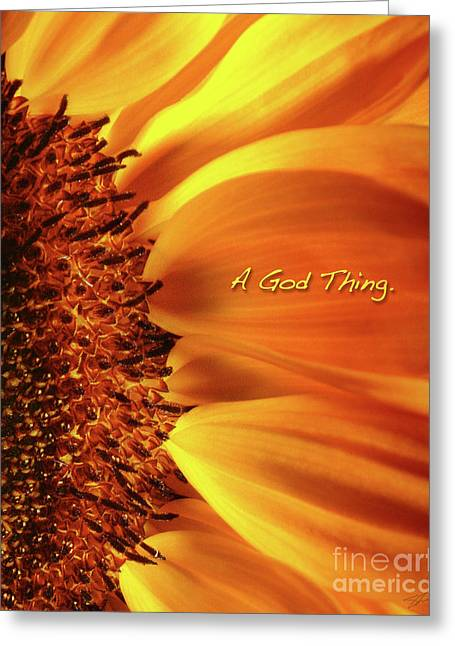 Greeting Card featuring the photograph A God Thing-2 by Shevon Johnson
