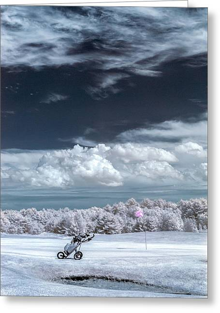 Greeting Card featuring the photograph A Golf Course In Infrared by Guy Whiteley