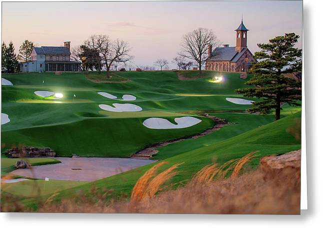 A Golfer's Paradise Greeting Card by Gregory Ballos