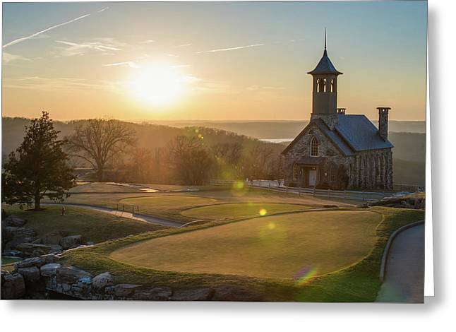 Greeting Card featuring the photograph A Golfers Paradise - Top Of The Rock - Branson Missouri by Gregory Ballos