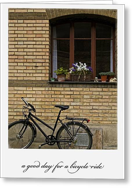 A Good Day For A Bicycle Ride Greeting Card by Dania Reichmuth