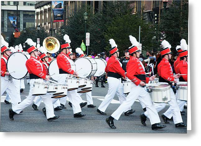 A Good Day For A Parade Greeting Card by Bill Cannon