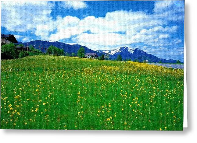 A Good Day Greeting Card by Subesh Gupta