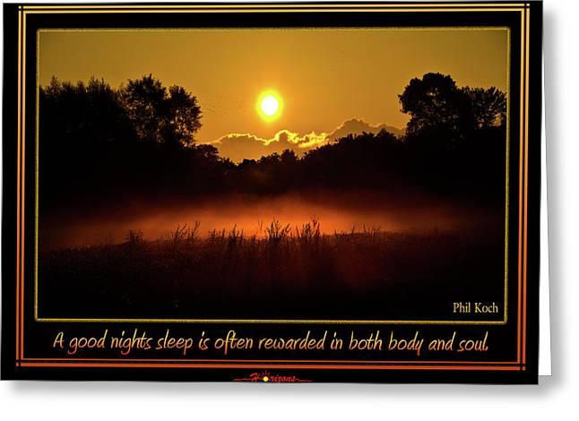 A Good Nights Sleep Greeting Card by Phil Koch