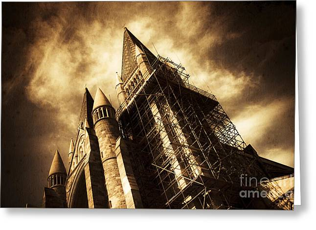 A Gothic Construction Greeting Card by Jorgo Photography - Wall Art Gallery