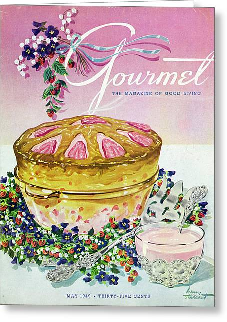 A Gourmet Cover Of A Souffle Greeting Card