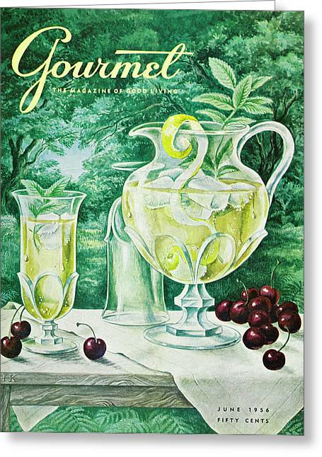A Gourmet Cover Of Glassware Greeting Card