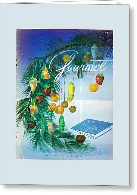 A Gourmet Cover Of Marzipan Fruit Greeting Card by Henry Stahlhut