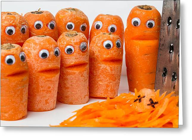 A Grate Carrot 2. Greeting Card by Gary Gillette