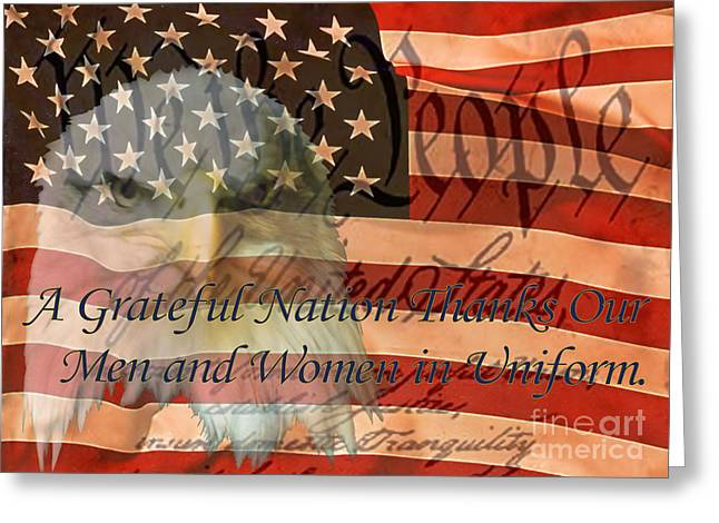 Greeting Card featuring the photograph A Grateful Nation by Ken Frischkorn