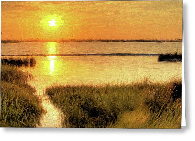 A Grayton Sunset Greeting Card by JC Findley