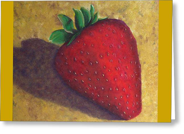 A Great Big Strawberry Greeting Card by Helen Eaton