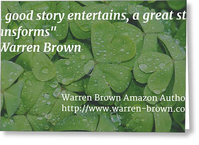 A Great Story Greeting Card by Warren Brown