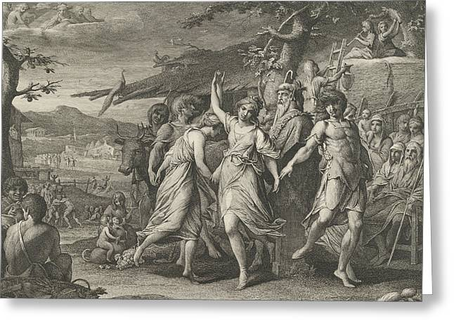 A Grecian Harvest-home, Or Thanksgiving To The Rural Deities, Ceres, Bacchus, Greeting Card