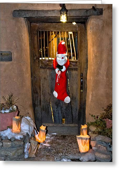 Greeting Card featuring the photograph A Grinch Welcome by Lou  Novick